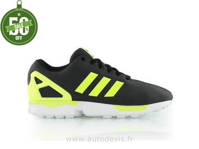 zx flux adidas jaune fluo